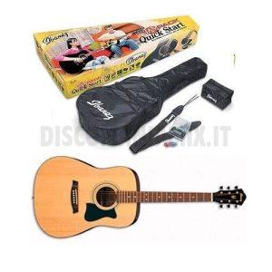 Pack chitarra acustica IBANEZ V50NJP-NT completa di custodia