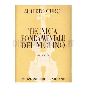 CURCI - Tecnica fondamentale del violino parte prima Ed. Curci